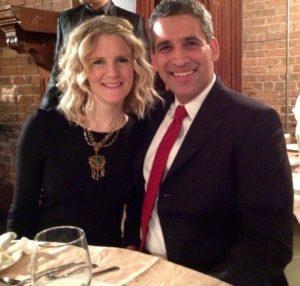 Sarah Hosker with her fiancé Ali