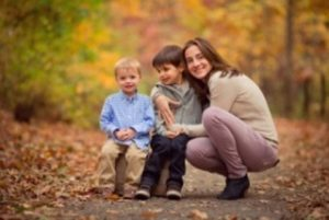 Yelda Basar Moers with her sons Benjamin and Noah
